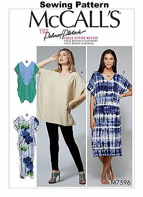 24-26 McCalls M7286 PATTERN Misses Tops 4-6 Size XSM New -XXL