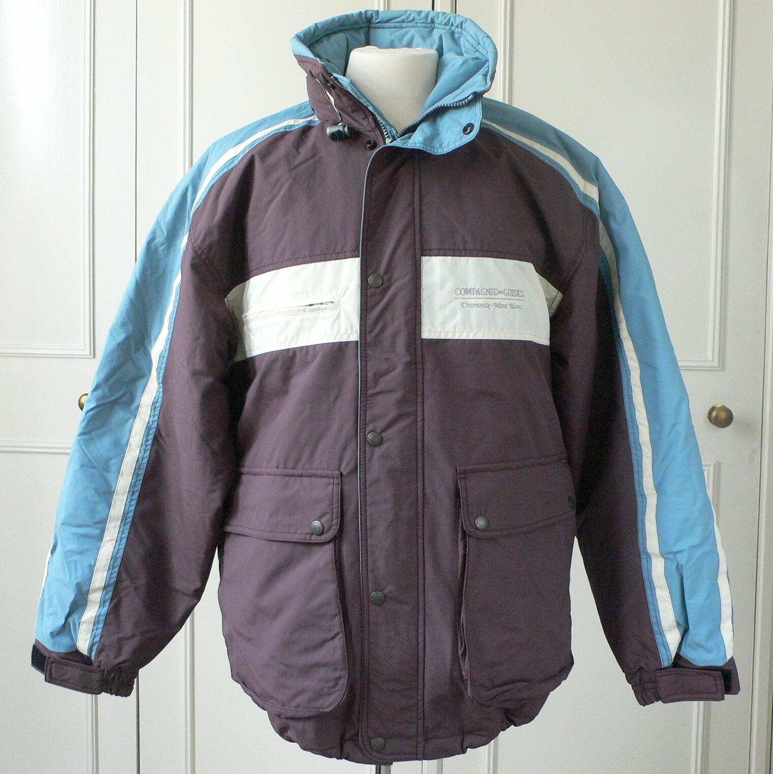 RETRO SKI JACKET ADVANCED COMPAGNIE DES GUIDES CHAMONIX MONT-Weiß NEW