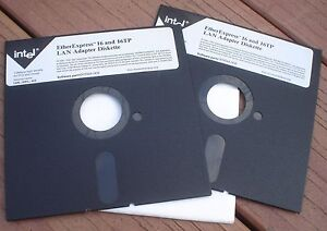 New-Pair-of-1-2-MB-HD-Intel-EtherExpress-16-and-16TP-LAN-Adapter-5-25-034-Diskettes