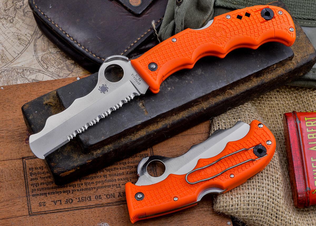 Spyderco Assist Rescue Knife W Carbide Glass Breaker 3 7