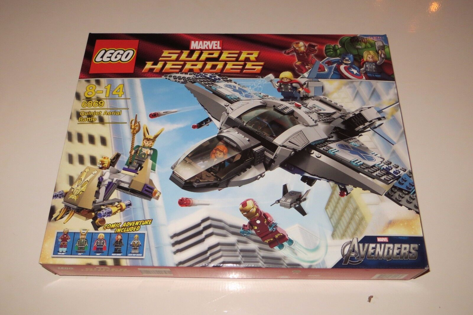 New  Sealed Super Heroes Lego 6869 Quinjet Aerial Battle