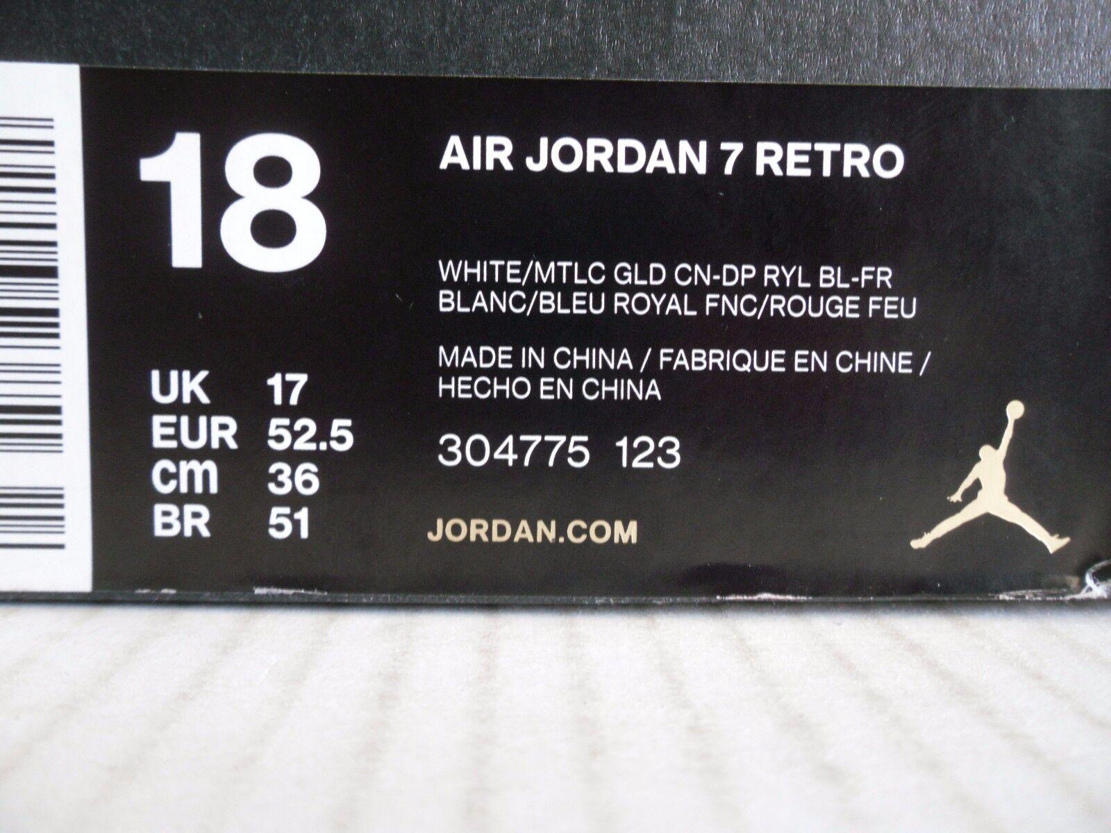 nike - air jordan 7 retro - nike olympischen tinker alternative white-gold sz. 9abbb3