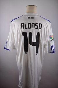 Details zu Real Madrid Trikot 2010 11 Gr. XXL #14 Alonso Adidas Spanien bwin Shirt