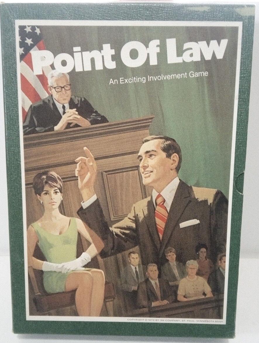 årgång 1972 3M Booksfall spel--point of law--utmärkt skick Fullt