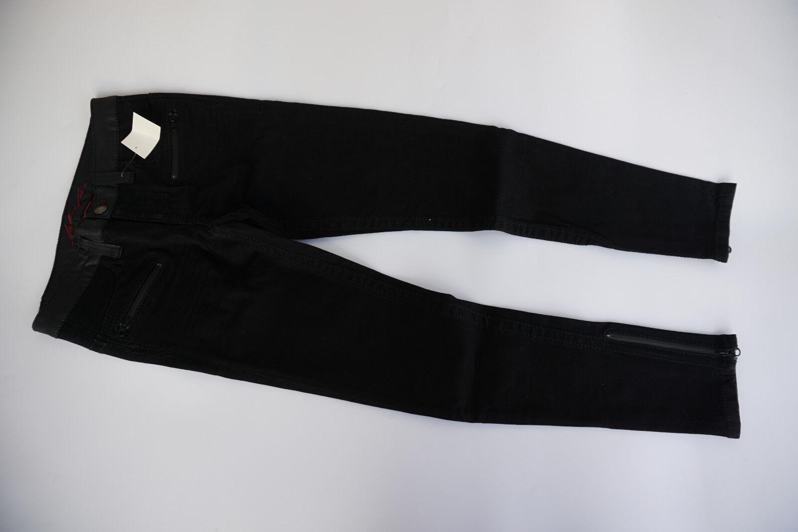 Blau FIRE Damen Stretch Jeans Hose Zip Slim fit Gr.36 28 32 W28 L32 schwarz NEU