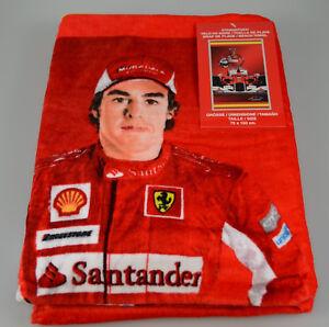 Strandtuch-Fernando-Alonso-Ferrari-Handtuch-Badetuch