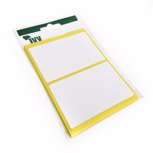Stickers 50 x 80mm 120 Self Adhesive Sticky White Labels Ivy Stationery