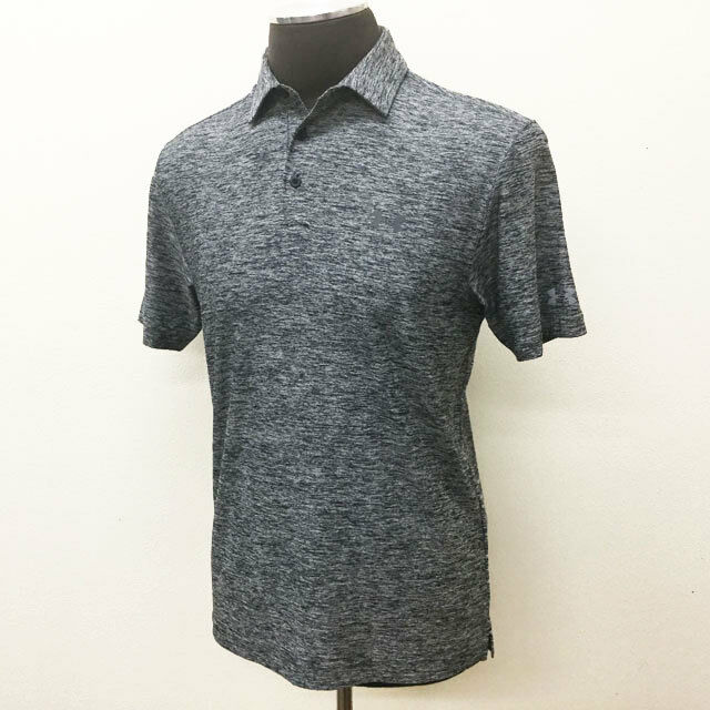 9914e3f1 Under Armour Elevated Heather Golf Shirt M - Black for sale online | eBay