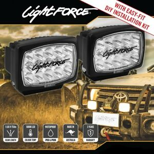 Sensational Lightforce Striker Led Rectangle Driving Lights Lamps Pair Wiring Wiring Cloud Hisonuggs Outletorg