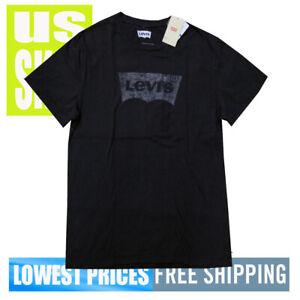 dd6576440d7d Levi's Strauss Men's NWT Black CAVIAR Faded Tab Logo Print Design T ...