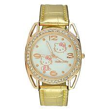 Reloj HELLO KITTY watch dorado brillantes Precioso. A1172