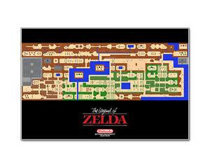Nintendo Legend of Zelda NES Map 24x36 Video Game Giclee Artwork ...