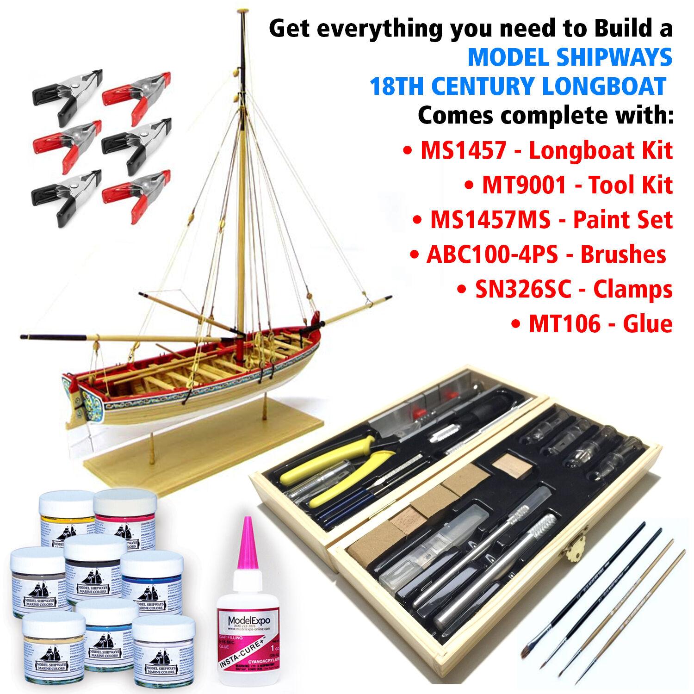 Modell shipways wood-planked beiStiefel kit w   tools, farben, & glue 69.99 dollar