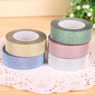 10M Glitter Washi Tape Paper Self Adhesive Stick On Sticky Craft Decorative DIY