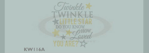 Twinkle little star do you know how loved you areVinyl Wall Decal Sticky Letter