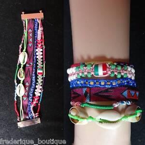 Bracelet Brésilien Manchette Fermoir Magnétique Original Ultra