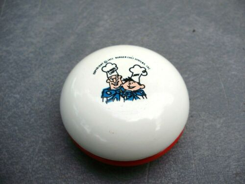 2 VINTAGE 1970/'S BURGER CHEF and JEFF PROMOTIONAL ADVERTISING YO-YO/'S RED /& BLUE
