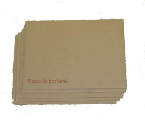 "7 x A4 HARD BACK BOARD ENVELOPES CARD BACKED 12.75x9/"""