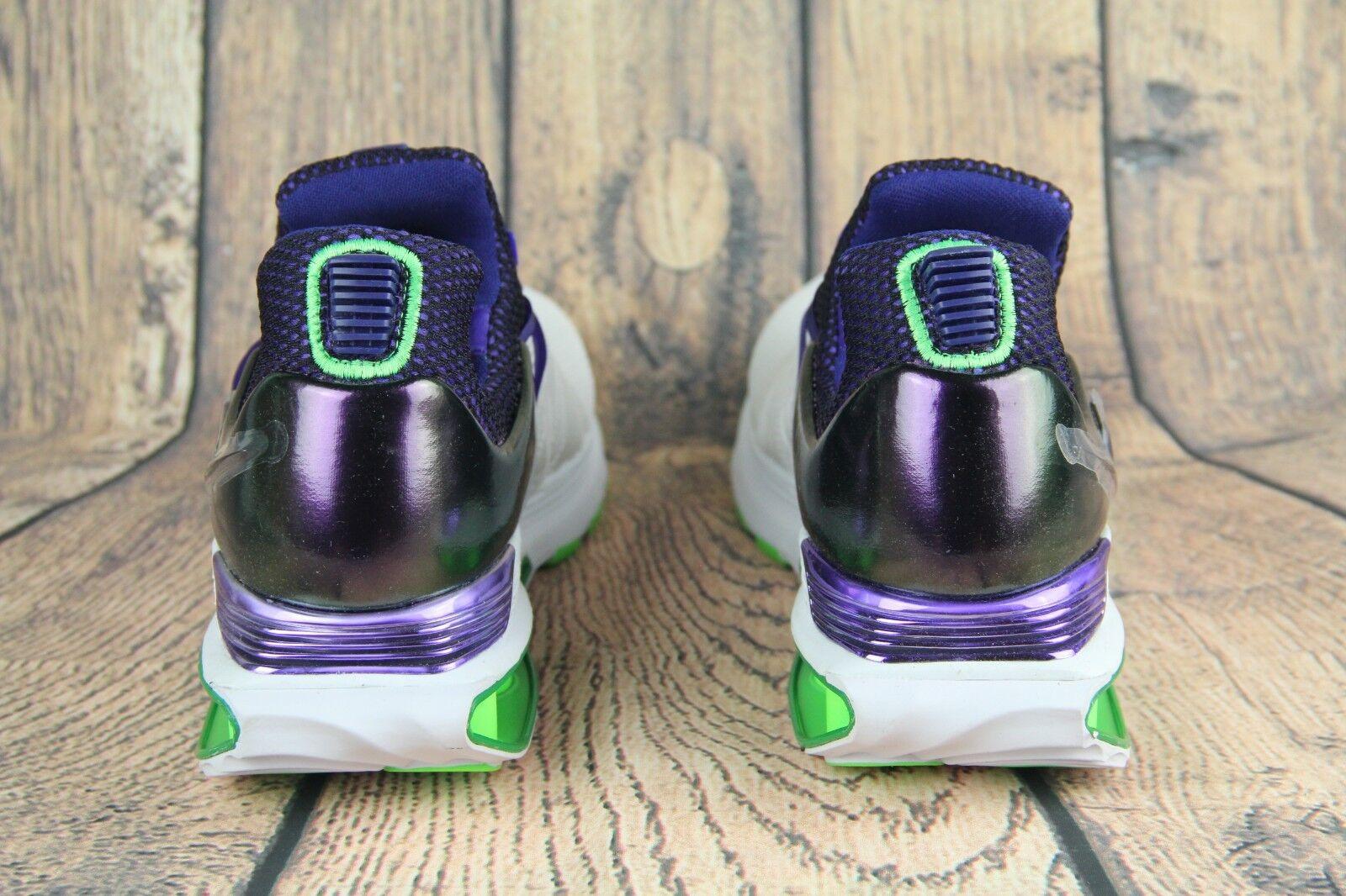 Nike shox schwere turnschuhe, weiße fusion violet violet violet wut grüne aq8554-105 frauen sz fe3040