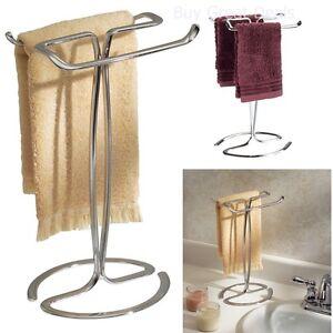Image Is Loading Bathroom Shower Towel Stand Countertop Rack Holder Organizer