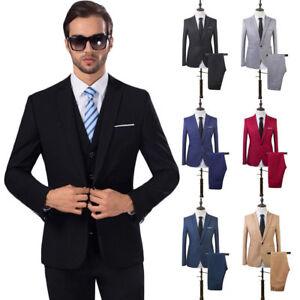 363a14988993 US 2PCS Men Blazer Suit Slim Fit Tuxedo Coat Pants Trousers Formal ...
