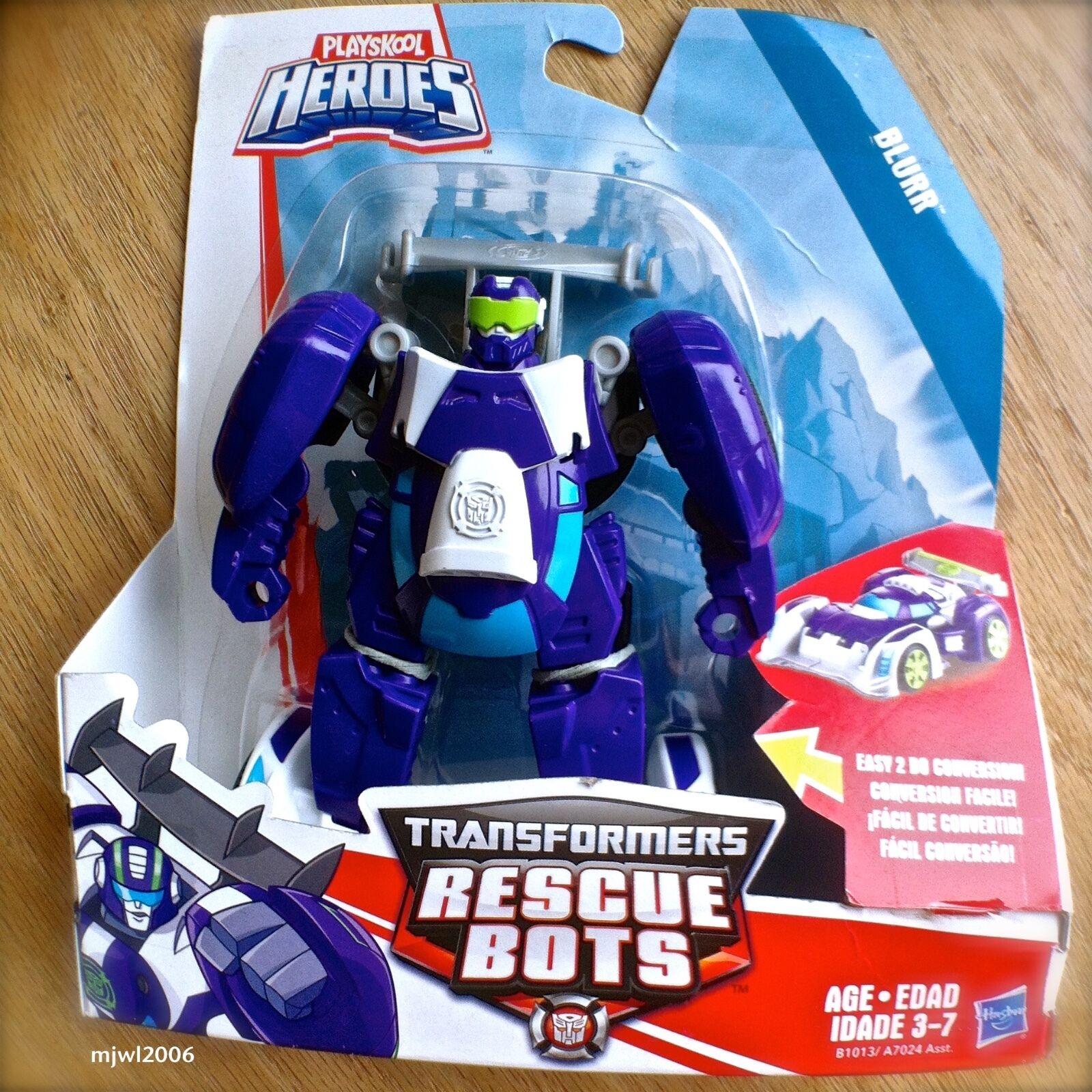 Transformers RESCUE BOTS BLURR Race Car PLAYSKOOL HEROES Hasbro lila NEW