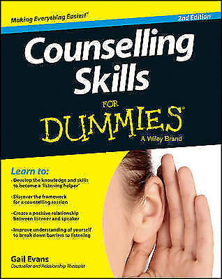 1 of 1 - Counselling Skills for Dummies 2E by Gail Evans (Paperback, 2013)