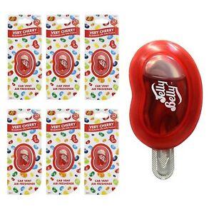 6-x-Jelly-Belly-pince-voiture-tres-cerise-de-ventilation-air-desodorisant-parfum