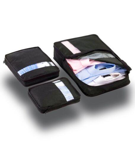3 Pcs Vêtements Sous-vêtements Chaussettes Packing Cube sacs de stockage Voyage bagages Organisateur