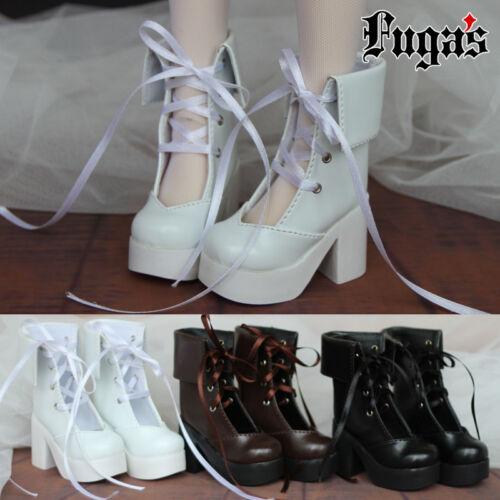 BJD Shoes Lace-up 2 Color 1//3 DZ SD AOD BJD Dollfie Ribbon Thick High Heel Boot