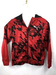 Puma-Warm-Cell-Full-Zip-Hoodie-Men-039-s-Size-Small-Red-Black