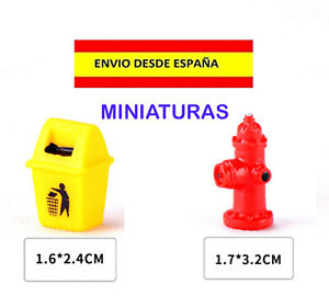 TRENES-MAQUETAS-DIORAMAS-CASAS-DE-MUNECAS-HIDRANTE-PAPELERA-MODELISMO-MINIATURAS