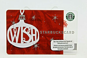 Starbucks Coffee 2009 Gift Card Wish Christmas Ornament Zero Balance No Value