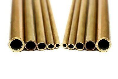 "8 Inch Length. 3//16/"" -/> 2/"" Diameter Brass tube Hollow 16 Gauge CZ121"