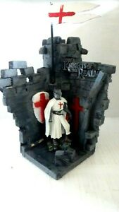 large soldier Knight Templar in castle corner detailed hand painted