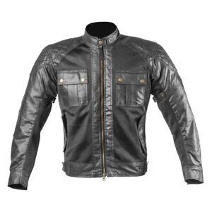 Men-Wax-Cotton-Vintage-Summer-Textile-Mesh-Motorcycle-Jacket-Motorbike-CE-Armour