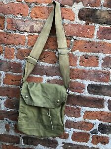 British Army WW2 1942 Respirator Canvas Kit Bag G&S Ltd Military War Militaria