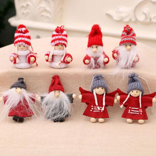 2Pcs//set Christmas Andel Girls Santa Xmas Tree Hanging Ornament Doll DecoratiEF