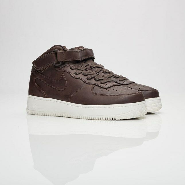 Nike Air Force 1 Mid Velvet Brown 905619-200 Men Size US 6.5 NEW 100% Authentic