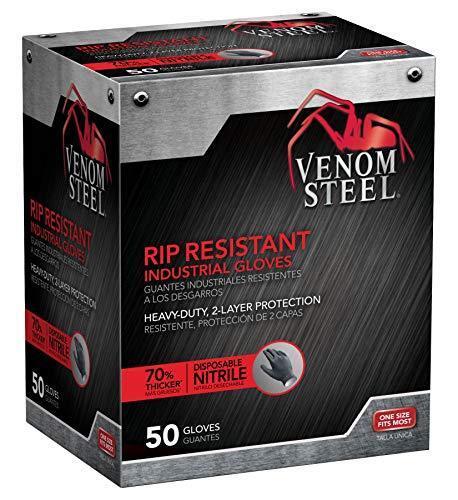 F Medline VEN6045R Venom Steel Premium Industrial Nitrile Gloves 50-Pack New