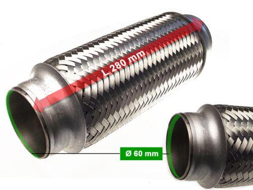 mm Auspuff Flexrohr Hosenrohr Katalysator Ø 60 x 280 Länge