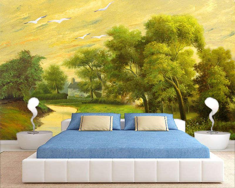 Plain Infinite Tree 3D Full Wall Mural Photo Wallpaper Printing Home Kids Decor