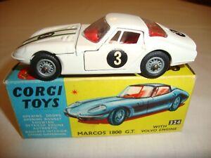 Corgi 324 Marcos 1800 Gt avec moteur Volvo - Excellent dans sa boîte d'origine