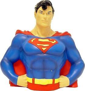 "DC SUPERMAN BÜSTE BANK 8"" NEU TOLLES GESCHENK SPARDOSE"