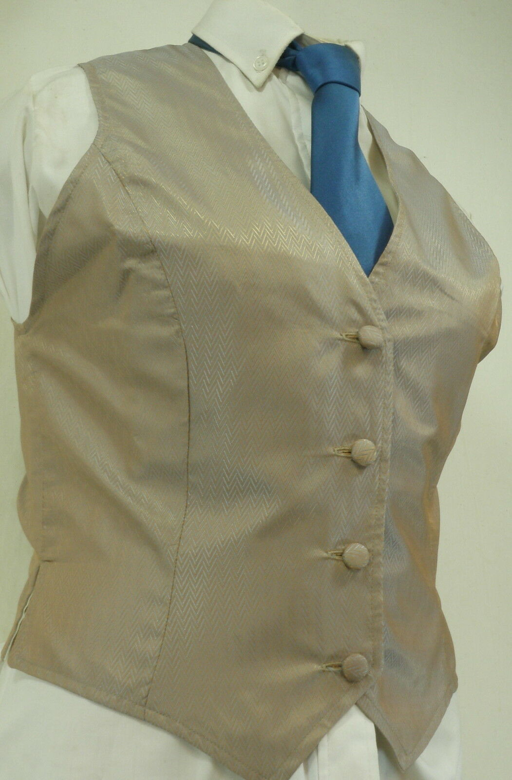 Reed Hill Saddleseat Vest Ladies Ice bluee and Champagne Shimmer 10 - Made in USA