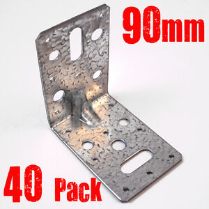 Detalles Acerca De 40 Pack Teco Paréntesis Angular 90mm Galvanizado Reforzado Terraza Vigas Madera Mostrar Título Original
