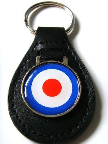 RAF MOD ROUNDEL RETRO SCOOTER KEYFOB KEY FOB KEYRING GIFT