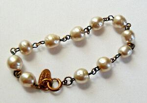 Vintage 6mm Miriam Haskell Baroque Pearls in Cream