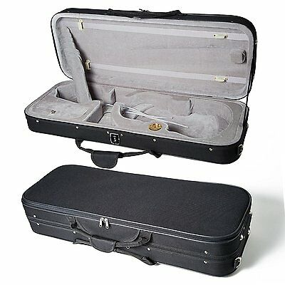 """String High Quality 16 """"viola Case Lightweight With Hygrometer Black/grey Free Shipping"""