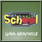 BACK TO SCHOOL Title Paper Piecing card making and scrapbooking